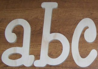 1/2 inch thick outdoor wooden letters