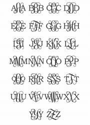 Diametric Wooden Monogram Examples