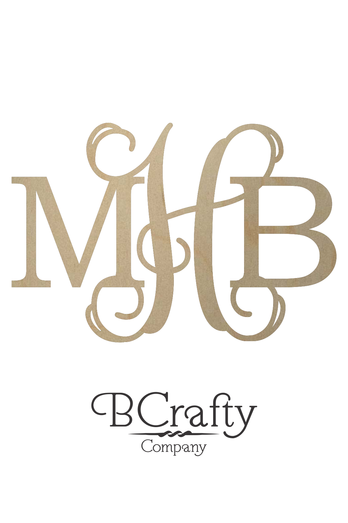 Diametric wooden monogram letters bcrafty company for Initial letters