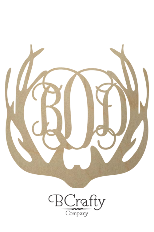 Unfinished Antler Monogram