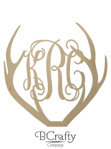 Wooden Antler Monogram