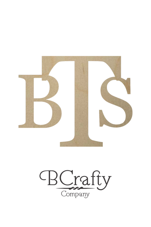 Wooden Initial Monogram