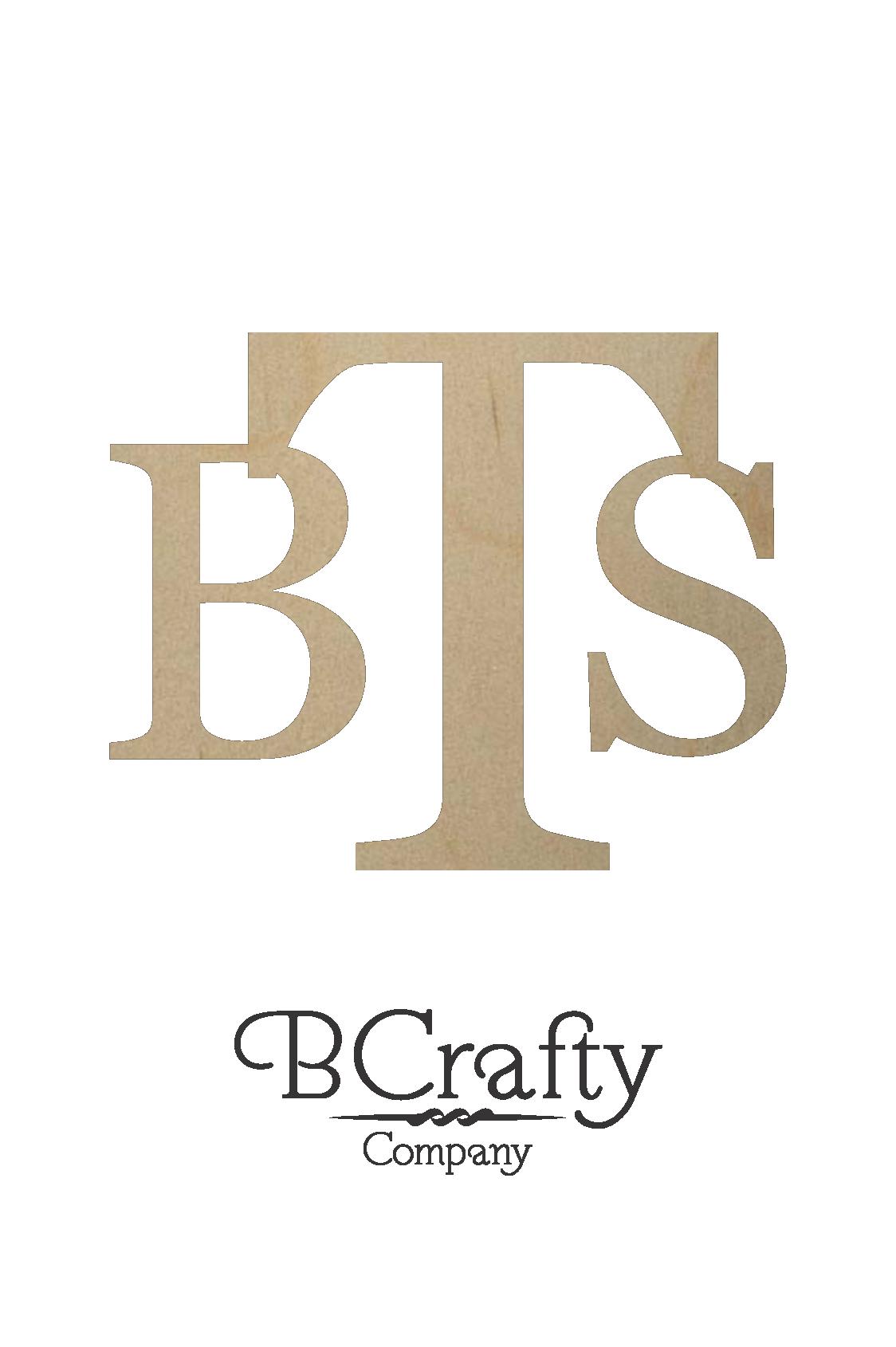 Wooden Initial Monogran Wood Initial Monograms Bcrafty