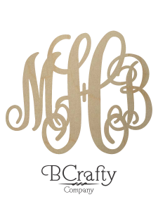 Wooden Script Monogram