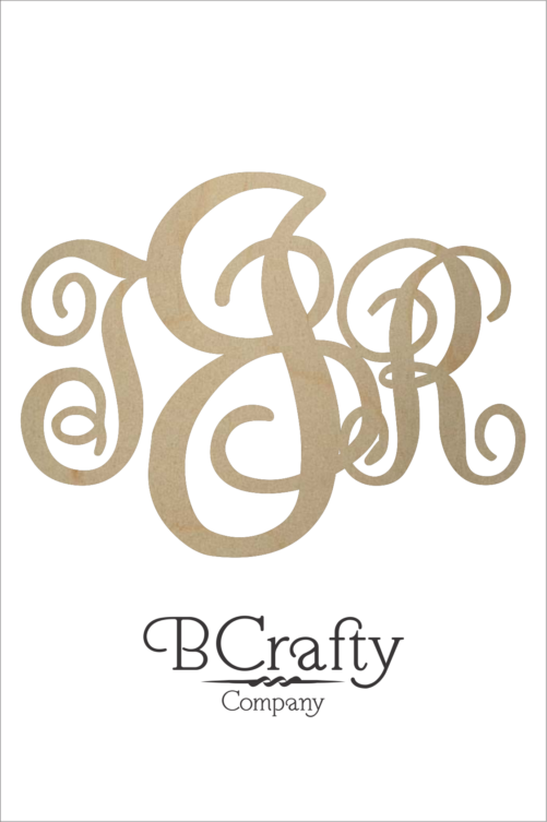 Wooden Monogram KK