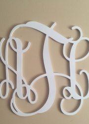 Wooden Monogram aTl