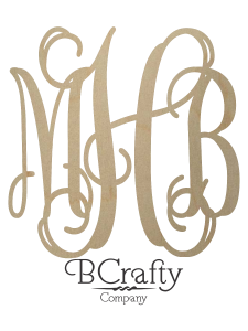 Unfinished Wooden Monogram