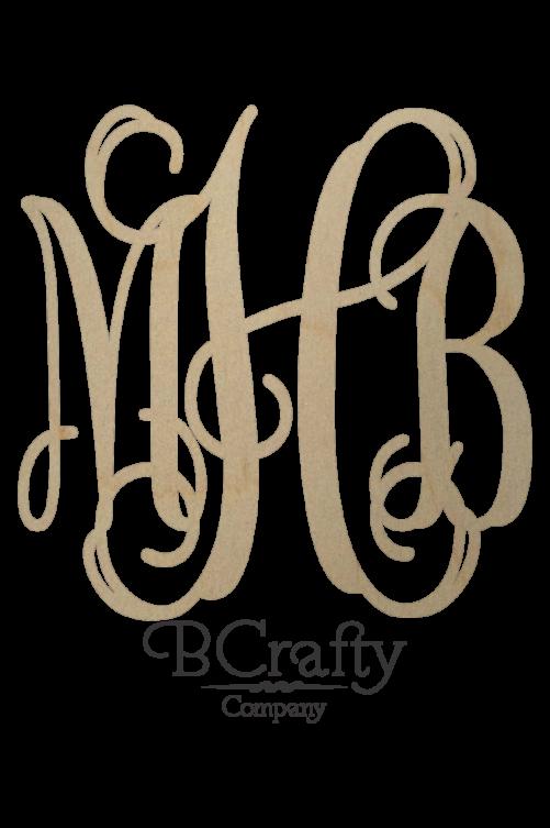 Wooden Monogram Sticker