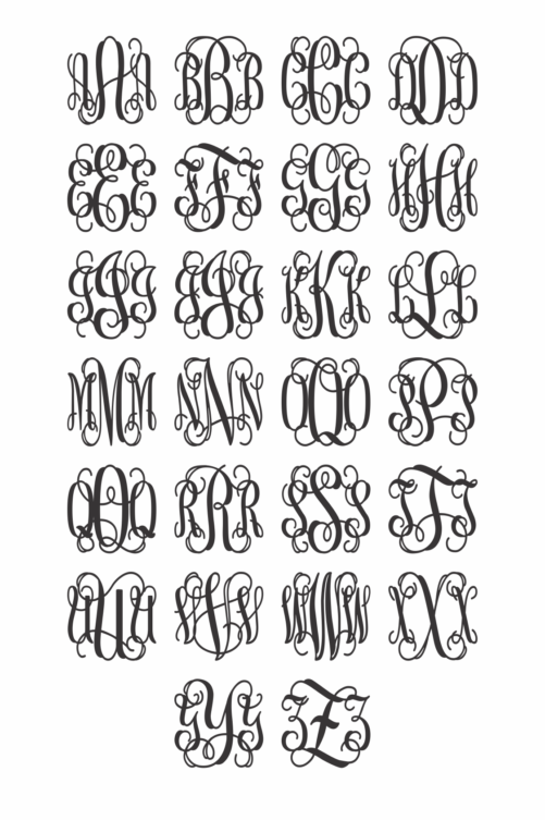 Wooden Monogram - Alphabet