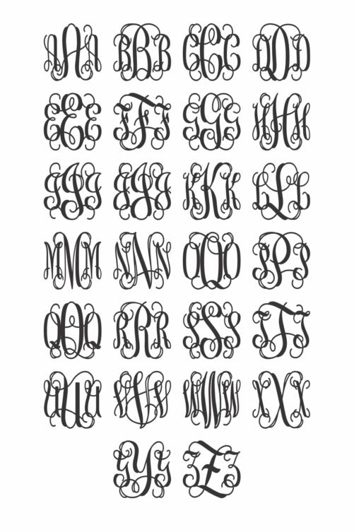 Wooden Monogram - Alphabet