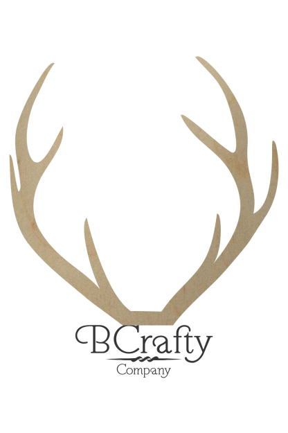 Wooden Deer Antler Shape