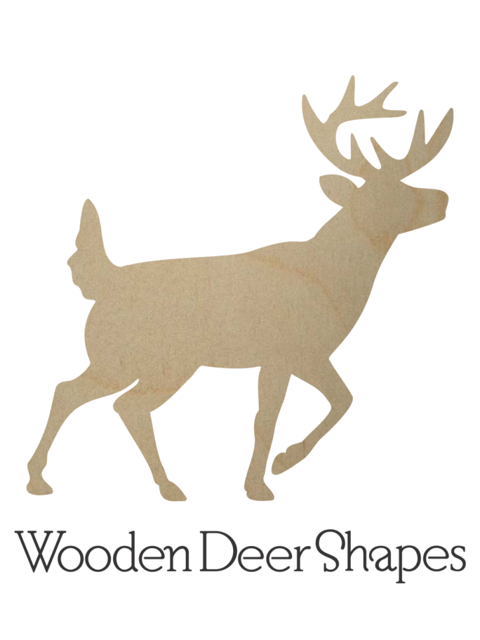 Wooden Deer Cutouts