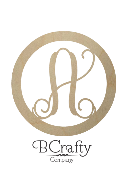 Vine with Circle Border Monogram