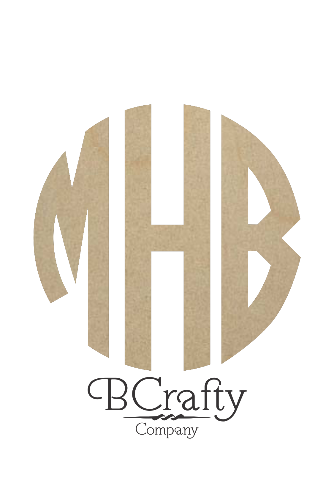 Wooden Circle Monogram Bcrafty Company