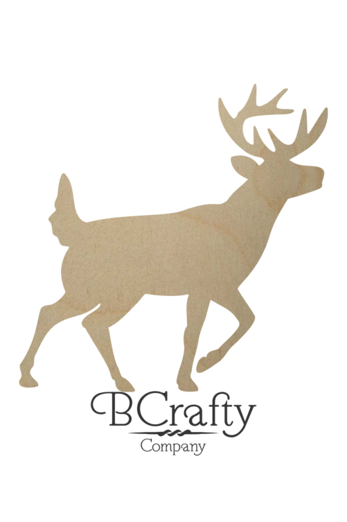 Unfinished Wooden Buck Shape
