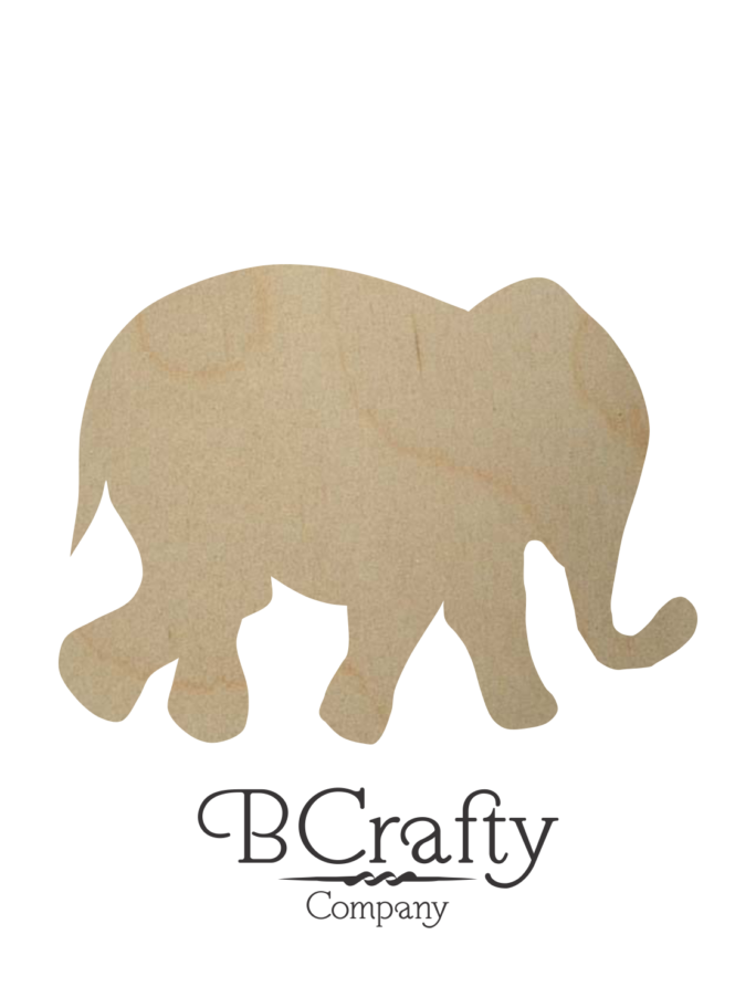 Wooden Elephant Cutouts
