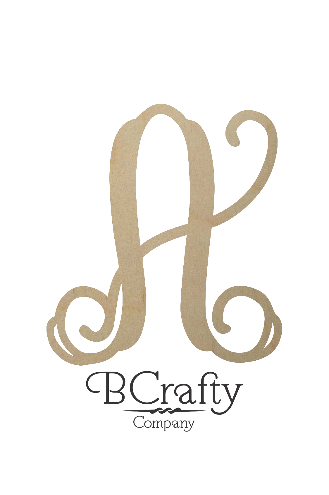 Wooden Vine Initial Bcrafty Company
