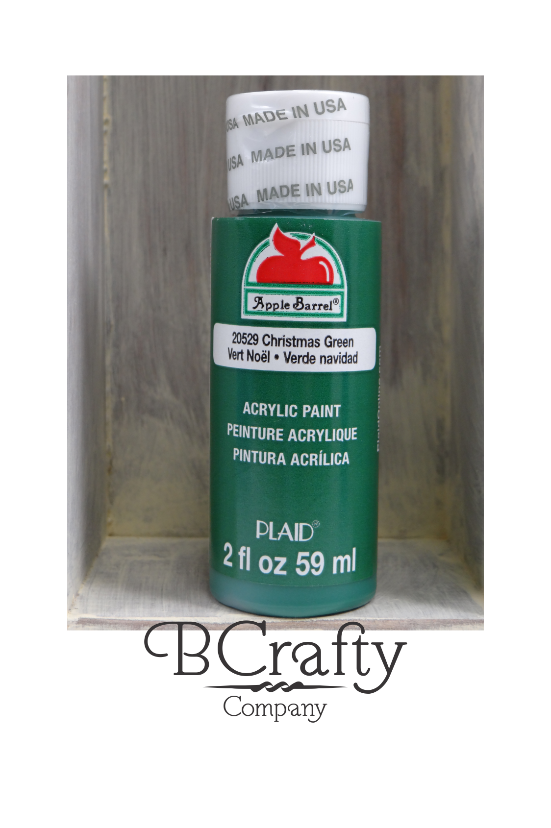 christmas green craft paint apple barrel 2 oz acrylic