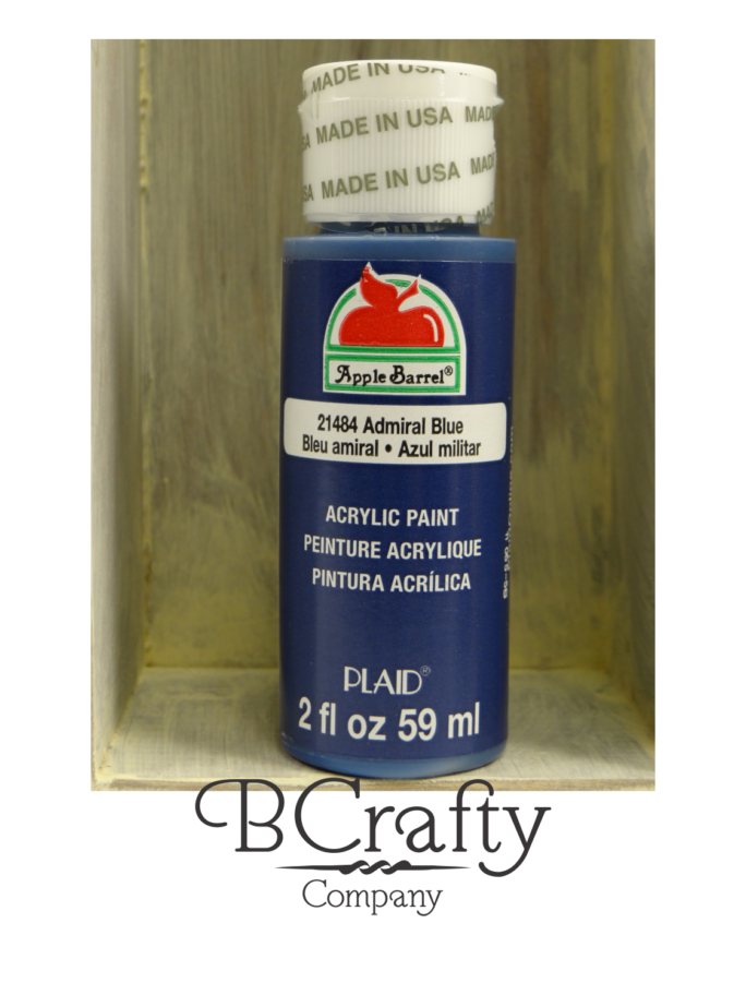 21484 Admiral Blue Apple Barrel Craft Paint