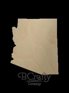 Wooden Arizona State Shape Cutout