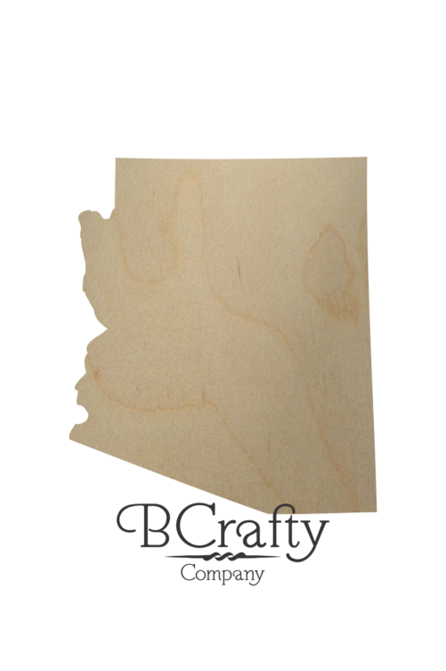 Wooden Arizona State Shape Cutout