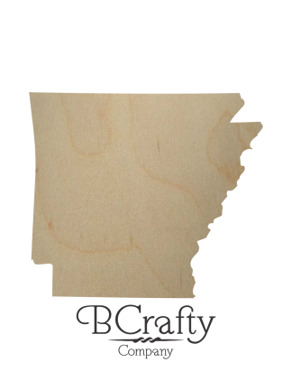 Wooden Arkansas State Shape Cutout