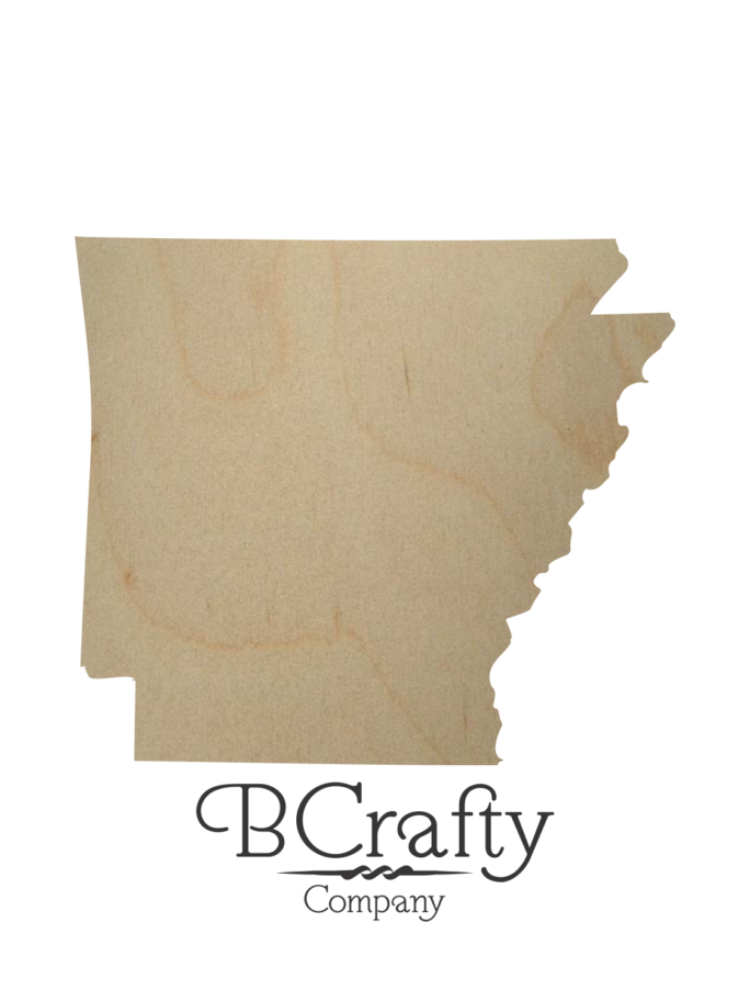 Wooden Arkansas State Shape Cutout