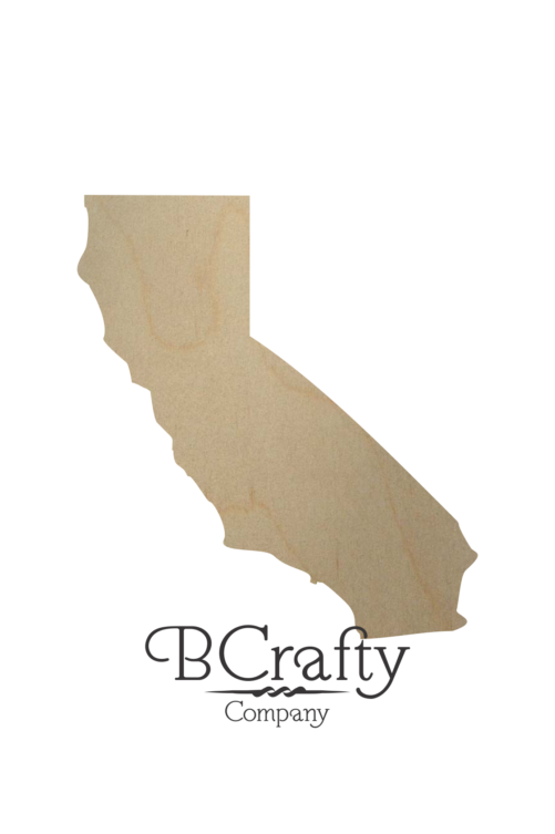 Wooden California State Shape Cutout