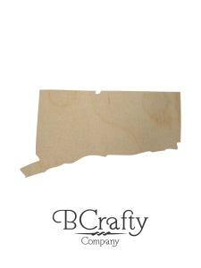 Wooden Connecticut State Shape Cutout