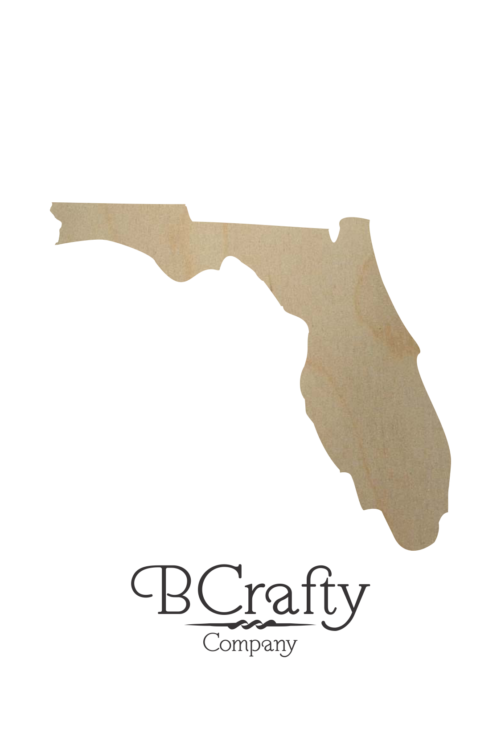 Wooden Florida State Shape Cutout