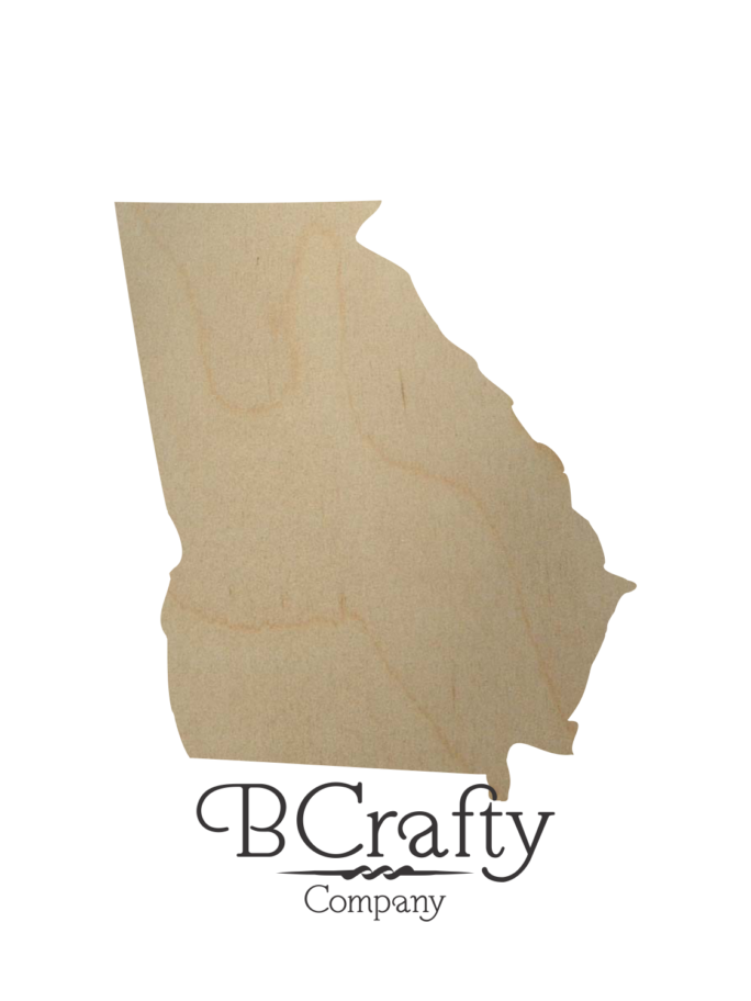 Wooden Georgia State Shape Cutout