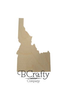 Wooden Idaho State Shape Cutout