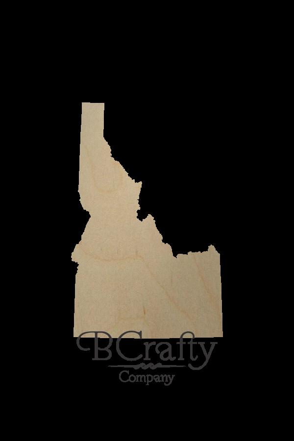 Wooden Idaho State Shape Cutout