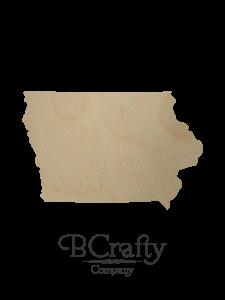 Wooden Iowa State Shape Cutout