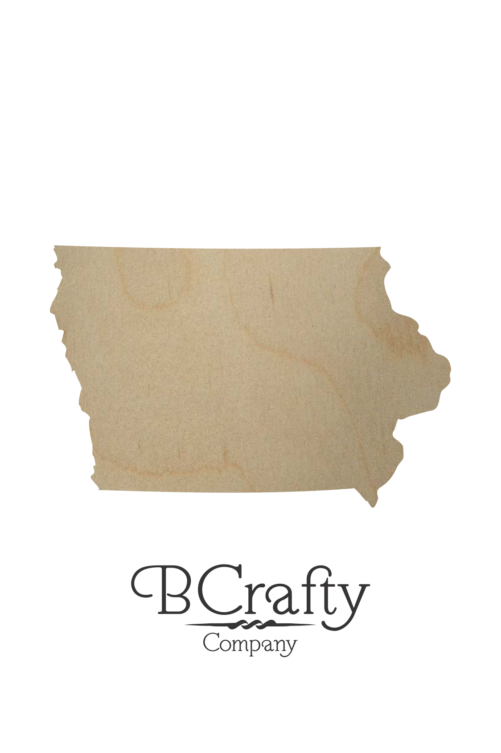 Wooden Iowa State Shape Cutout