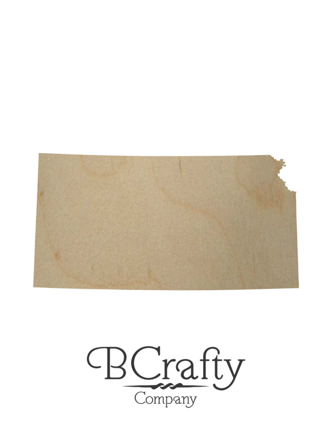 Wooden Kansas State Shape Cutout