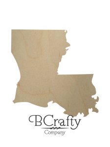 Wooden Louisiana State Shape Cutout
