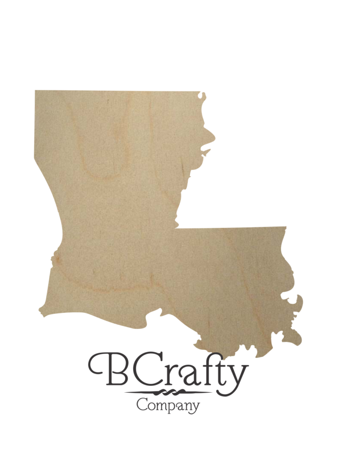 Wooden Louisiana Cutout