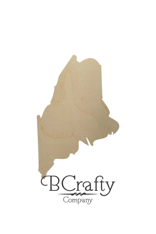 Wooden Maine State Shape Cutout