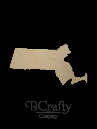 Wooden Massachusetts State Shape Cutout