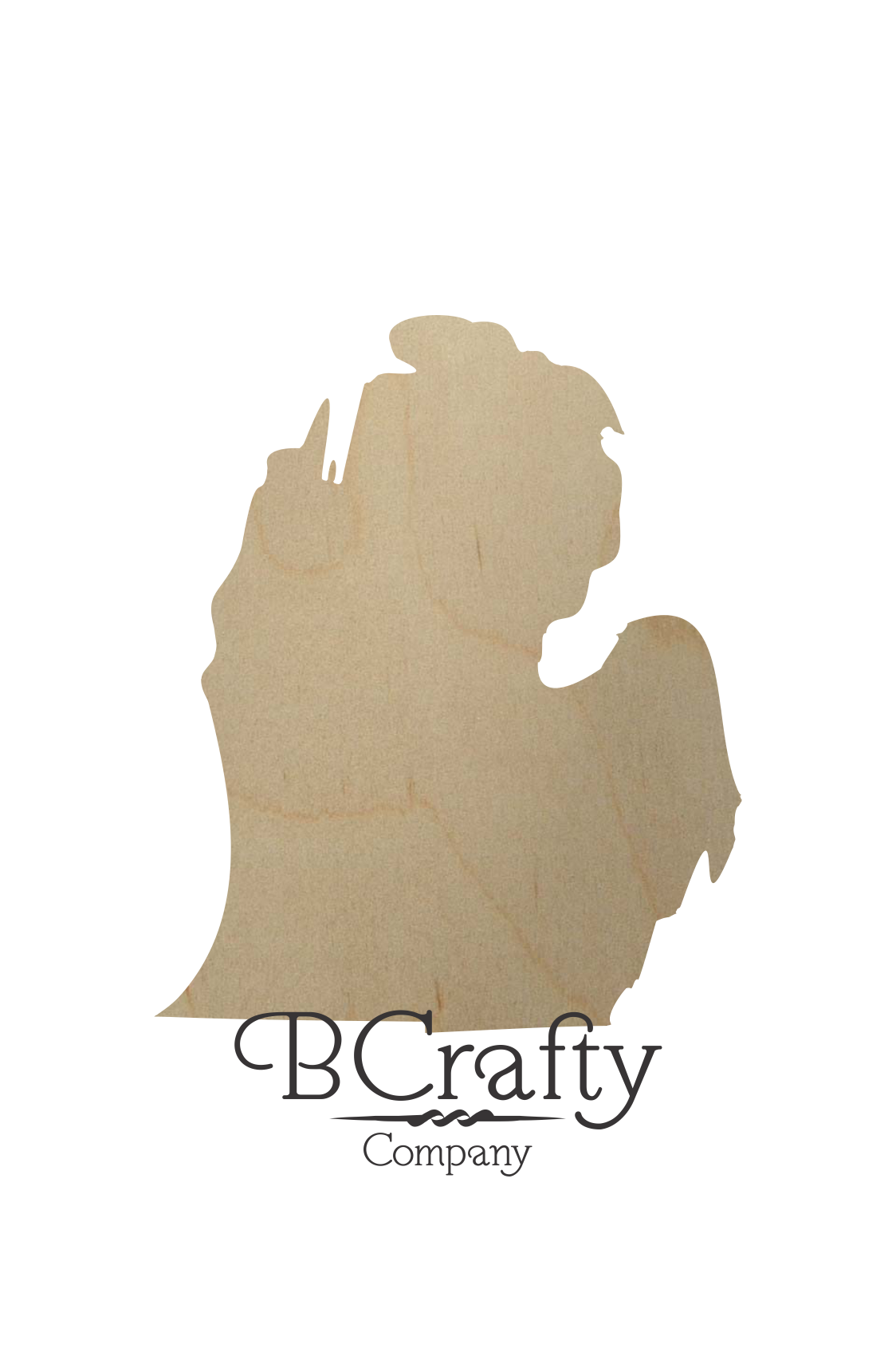 Wooden Michigan State Shape Cutout