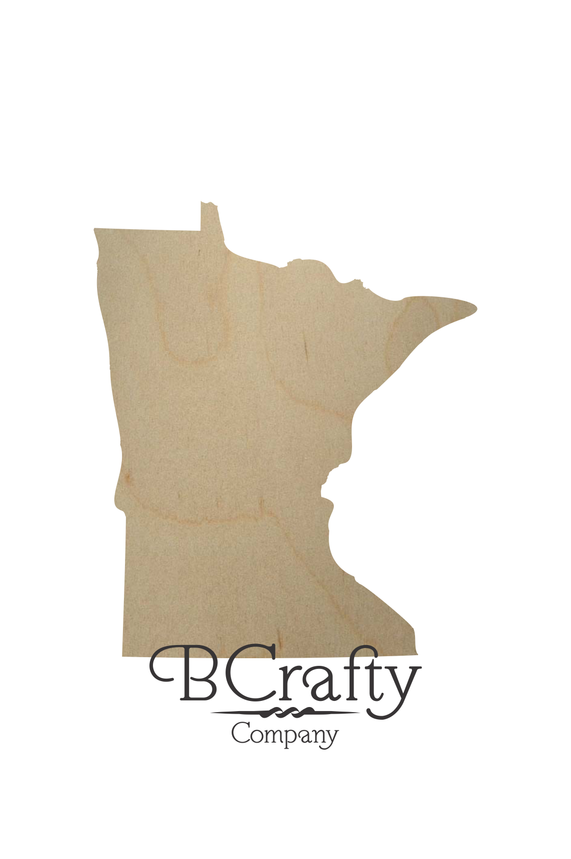 Wooden Minnesota State Shape Cutout