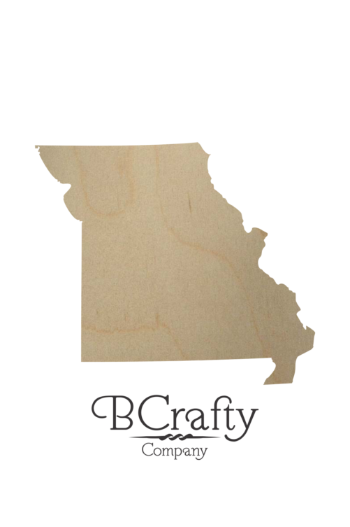 Wooden Missouri State Shape Cutout