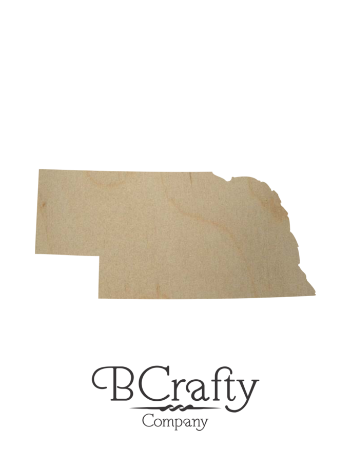 Wooden Nebraska State Shape Cutout