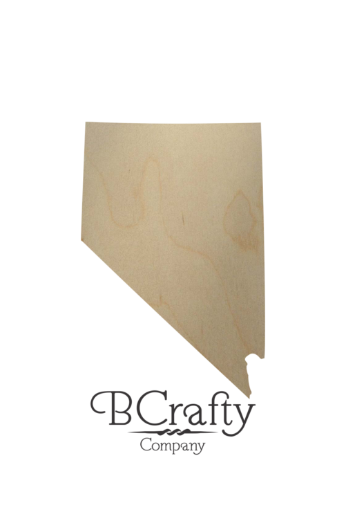 Wooden Nevada State Shape Cutout