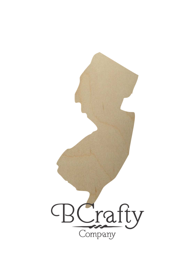 Wooden New Jersey State Shape Cutout