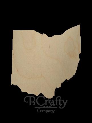 Ohio Wood Cutout State Shape