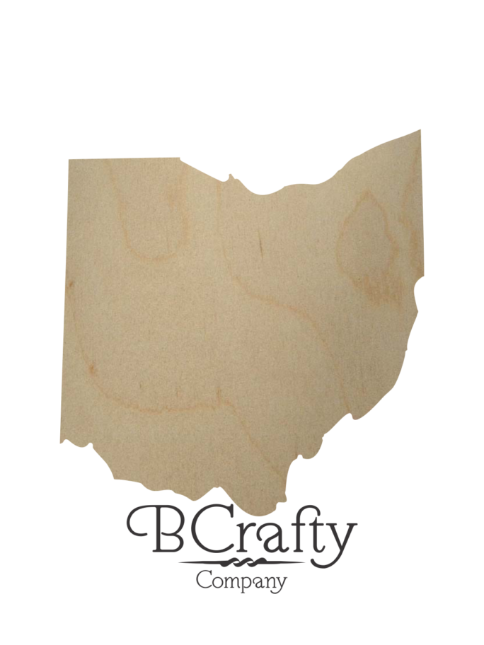 Ohio Wood Cutout State Shape