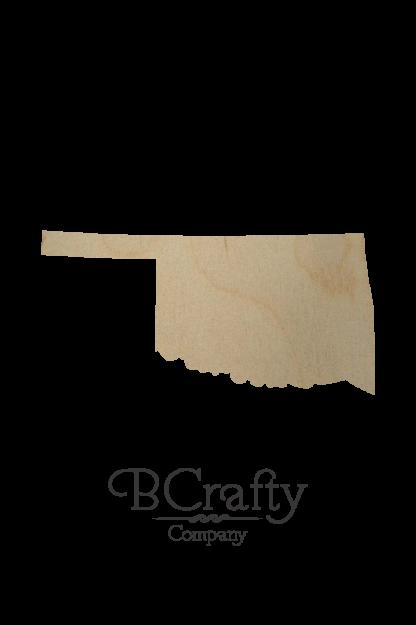 Wooden Oklahoma State Shape Cutout