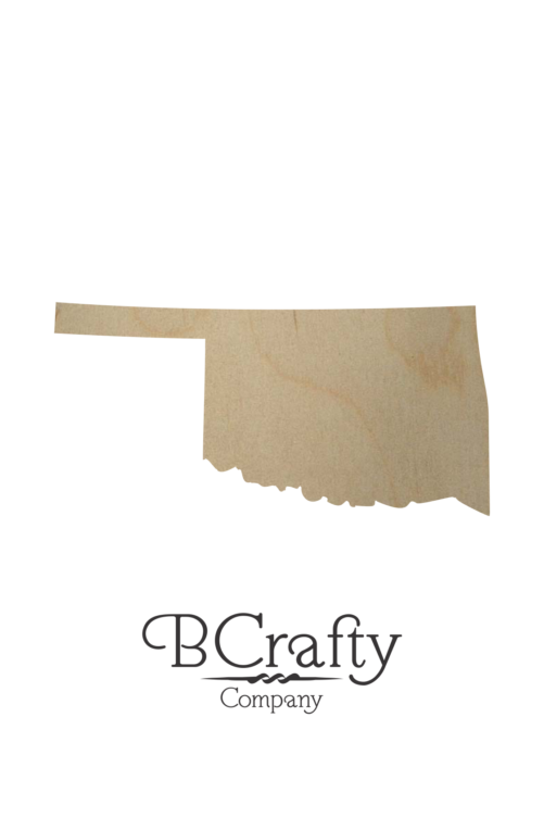 Wooden Oklahoma State Shape Cutout